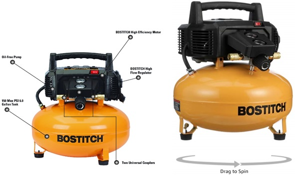Bostitch Air Compressor Dimensions