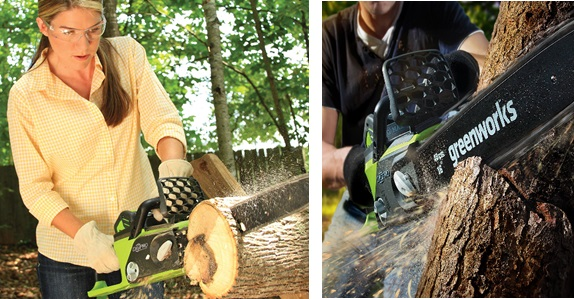 Greenworks powerful cordless chainsaw