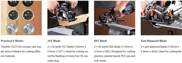 TACKLIFE Corded Mini Circular Saw 2
