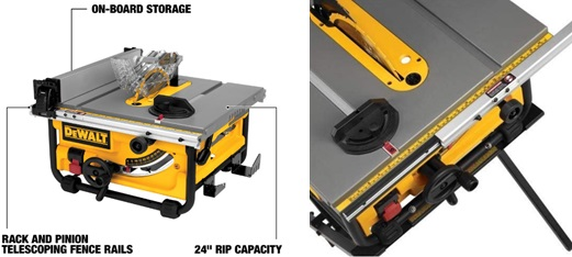 DEWALT Portable Table Saw with Stand